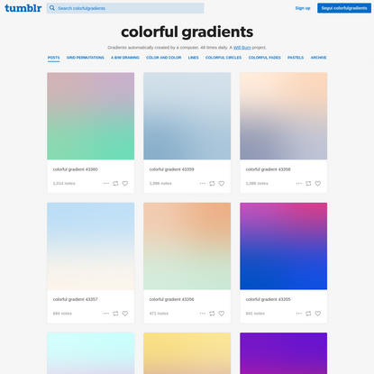 colorful gradients