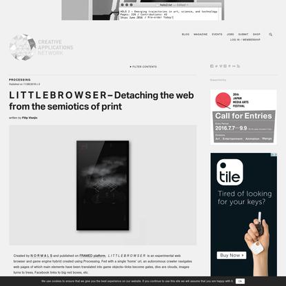 L I T T L E B R O W S E R - Detaching the web from the semiotics of print