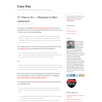 It's Time to Act - a Response to Marc Andreessen - Cory Foy