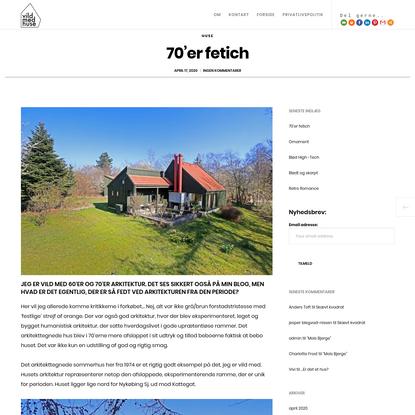 70'er fetich - Vildmedhuse.dk - arkitekttegnet sommerhus