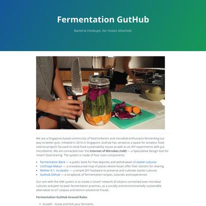 Fermentation GutHub
