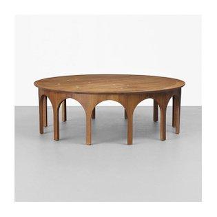 T. H. Robsjohn-Gibbings, Constellation Coffee Table, walnut, 1956. #throbsjohngibbings #walnut #coffeetable #midcenturytable...