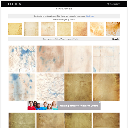 Free Stained Paper Textures - L+T