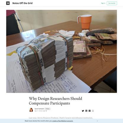 Why Design Researchers Should Compensate Participants