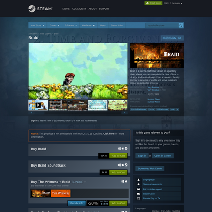Braid on Steam