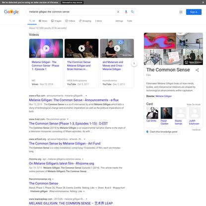 melanie gilligan the common sense - Google Search