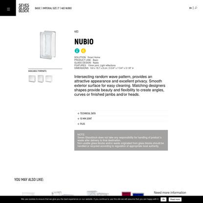 483 Nubio | Glass blocks | Seves Glassblock