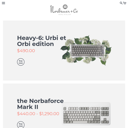 Norbauer & Co. - Bespoke Designs for the Discriminating Nerd