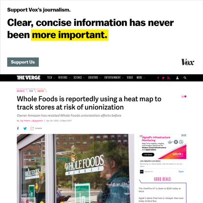 Whole Foods is reportedly using a heat map to track stores at risk of unionization