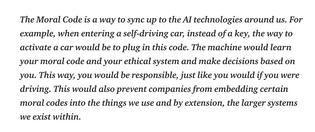 AI ethics - Moral code plugin