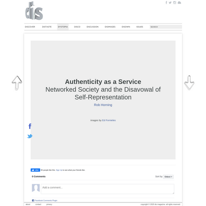 Rob Horning   Authenticity as a Service