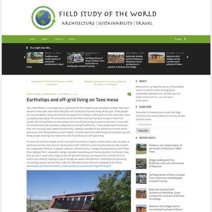 Earthships and off-grid living on Taos mesa