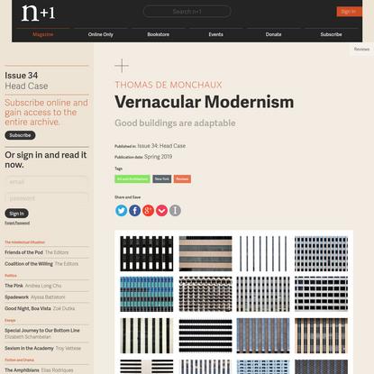 Vernacular Modernism