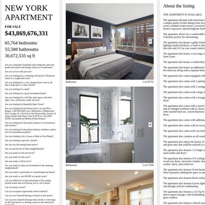 NEW YORK APARTMENT (SAM LAVIGNE, TEGA BRAIN)