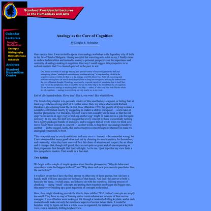 Presidential Lectures: Douglas R. Hofstadter: Extras