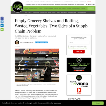Empty Grocery Shelves and Rotting, Wasted Vegetables: Two Sides of a Supply Chain Problem