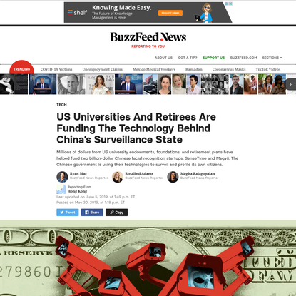 The American Money Funding China's Surveillance State