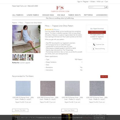 Mona - Trapeze Linen Dress Pattern