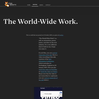 The World-Wide Work. - ethanmarcotte.com