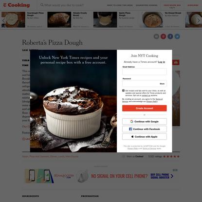 Roberta's Pizza Dough Recipe