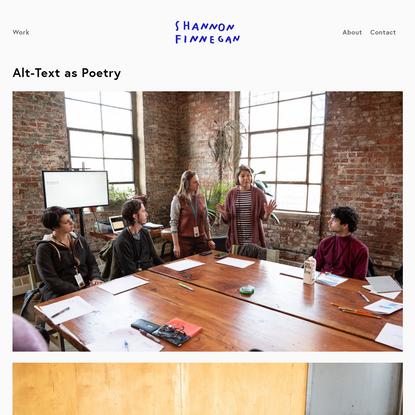 Alt-Text as Poetry - Shannon Finnegan
