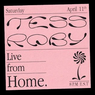 Repost @tessroby Design by @hugo____b Live from Home II - completely different set, new songs, old songs, unplugged vibes, s...