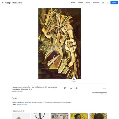 Nu descendant un escalier - Marcel Duchamp, 1912 (conservé au Philadelphia Museum of Art) - Marcel Duchamp - Google Arts & C...