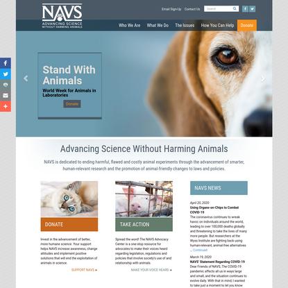 Home | National Anti-Vivisection Society