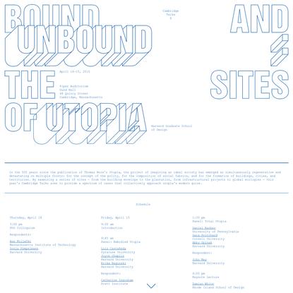 Cambridge Talks X: Bound & Unbound