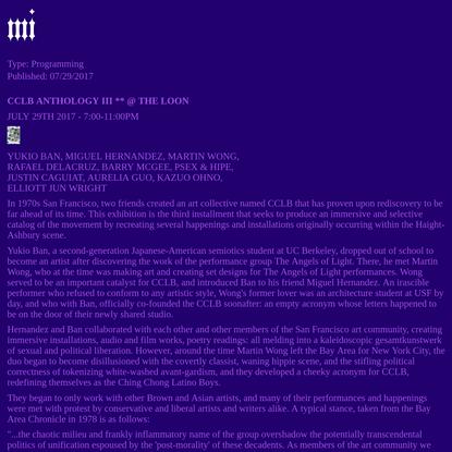 Manila Institute - CCLB ANTHOLOGY III