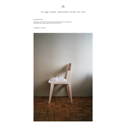 Ana Kraš - Hug Chair