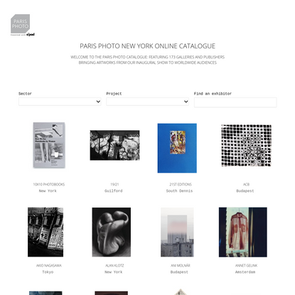 Welcome to Paris Photo global fine arts photography agenda - Paris Photo Agenda