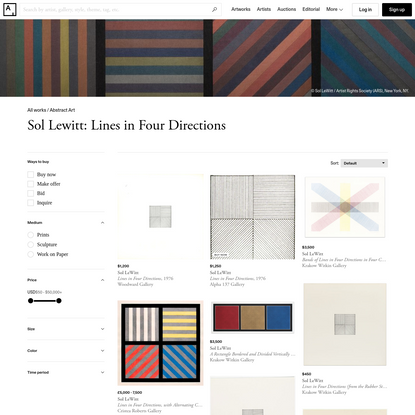 Sol Lewitt: Lines in Four Directions