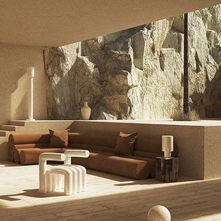 Interior design inspiration. House by the cliff. @stefo_rotolo featuring these amazing objects. Hats off to you 👌🏻 RG: @milk...