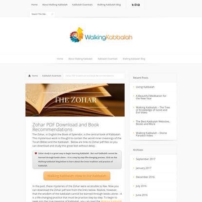 Zohar PDF Download and Book Recommendations   Walking Kabbalah