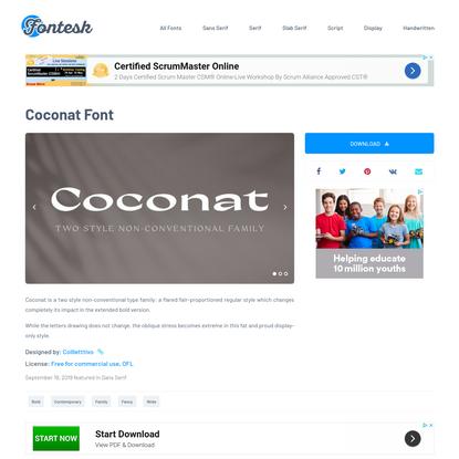 Coconat Font › Fontesk