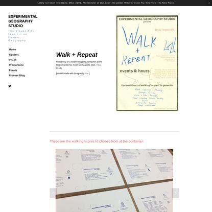 WalkRepeat - EXPERIMENTAL GEOGRAPHY STUDIO