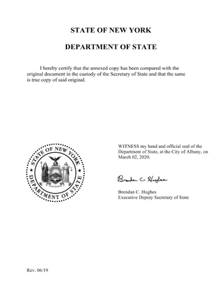 Permanent, Full-time Employment Inc. Certificate