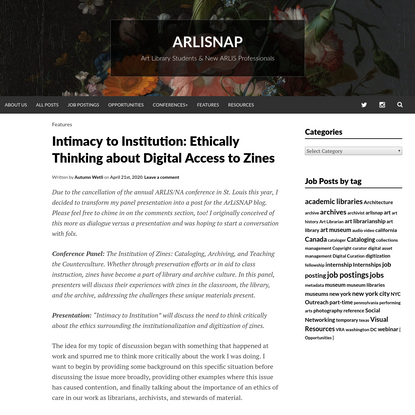 Intimacy to Institution: Ethically Thinking about Digital Access to Zines