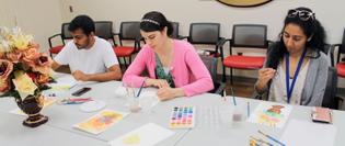 Watercolor workshop for Mount Sinai members