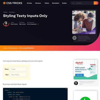 Styling Texty Inputs Only   CSS-Tricks