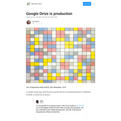 Google Drive is production