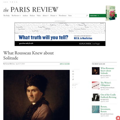 What Rousseau Knew about Solitude