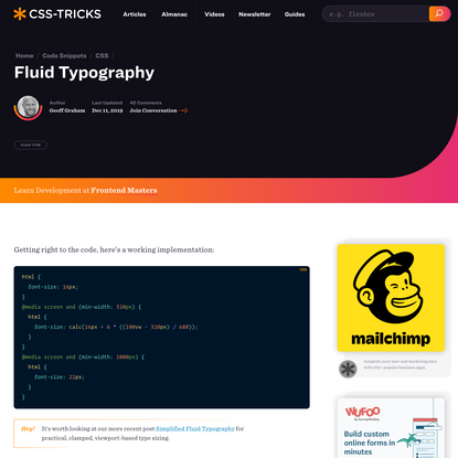 Fluid Typography   CSS-Tricks