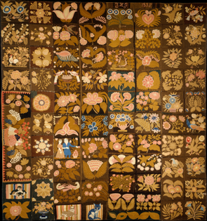 Zeruah H. Guernsey Caswell, Embroidered Carpet, 1832–35