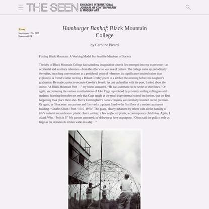 Hamburger Banhof: Black Mountain College