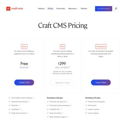 Pricing   Craft CMS