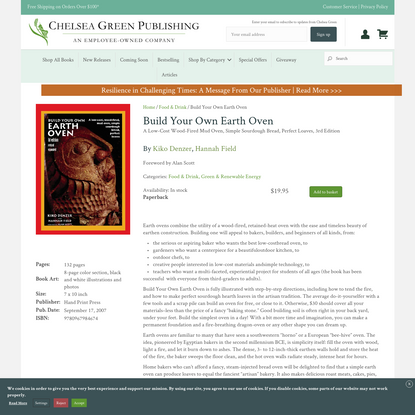 Build Your Own Earth Oven by Kiko Denzer   Chelsea Green Publishing