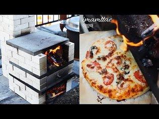 (SUB)🔥#4.흰색벽돌스토브오븐2in1 전원생활 벽돌오븐으로 피자굽고 스토브로 파스타만들어 먹었어요!! Brick stove & Brick Oven