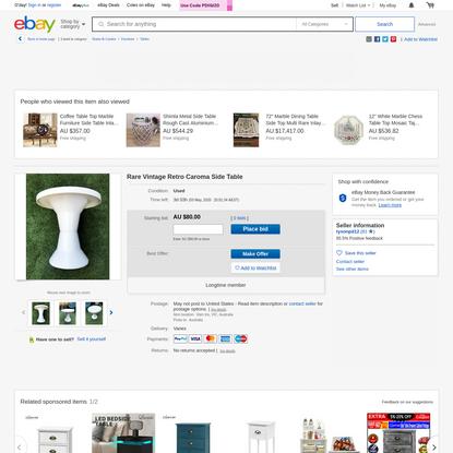 Rare Vintage Retro Caroma Side Table | eBay
